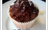 Cupcakes à la noix de coco, miel et au chocolat noir