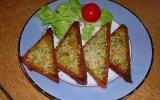 Toasts aux crevettes