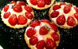 Tarte aux fraises aérienne