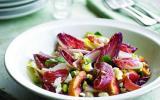 Salade de Valençay, nectarines grillées et jambon de Parme