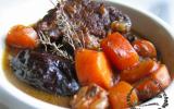 Ragoût de boeuf, carottes et pruneaux à la bière
