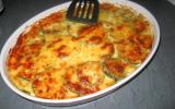 Gratin de ravioles aux courgettes et saumon fumé