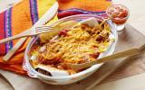 Enchilada boeuf, poivrons et haricots rouges
