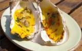 Huîtres chaudes au safran