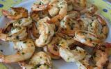 Sauté de crevettes à la ciboulette