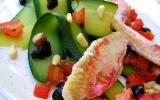 Salade de courgettes aux rougets