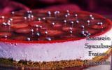 Bavarois aux fraises sur biscuit en spéculoos