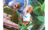 Lisettes marinées au vinaigre et pulpe de tomate, poivron et piment d'Espellette