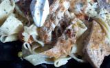 Tagliatelles au poulet et Saint-Môret