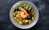 Soupe miso au tofu et champignons