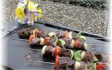 Brochettes de bœuf aux poivrons maison