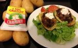 Pommes de terre farcies au foie de volaille et Chavroux