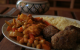 Couscous de légumes au curry et lait de coco