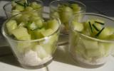 Verrines jambon/ concombre