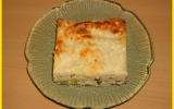 Plat de lasagnes aux poireaux, jambon et ricotta
