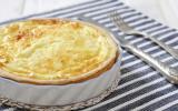 Quiche thon, pommes de terre, gruyère, oignon