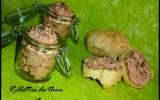 Rillettes de thon avec ses pains au sésame