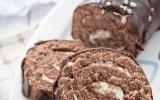 Bûche de noël chocolat et vanille