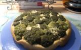 Tarte tatin aux brocolis et chèvre