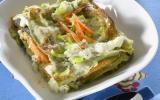 Lasagnes de saumon aux poireaux, sauce St Môret