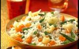 Riz basmati aux épices et aux petits légumes