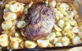 Rouelle de porc à la moutarde et vin blanc