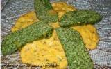 Cake tout vert au queso de Cabrales