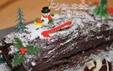 Bûche de Noël allégée au chocolat
