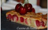 Clafoutis aux cerises et la pâte de pistache maison