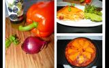 Quiche sans pâte chorizo, poivron et mimolette