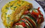 Tian de légumes et omelette à la ciboulette