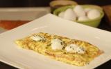 Omelette au saumon de Norvège fumé et fromage