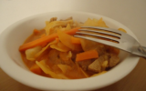 Curry de dinde au chou blanc