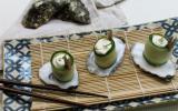 Makis de concombre aux huîtres