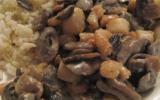 Poêlée de pétoncles aux champignons