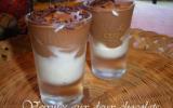 Verrines aux deux chocolats