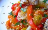 Salade de poivrons au thon