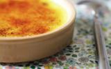 Crème brûlée au pandan et lait de coco