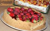 Cheesecake aux fraises et citron, strawberry et lime cheesecake