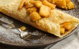 Crêpes aux pommes et caramel beurre salé