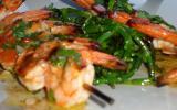 Crevettes marinées à la coriandre