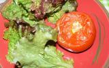 Tomates farcies au chèvre et aux champignons