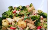 Salade de légumes de printemps