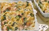 Soufflé au saumon et aux brocolis