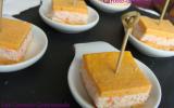 Amuse bouche en 3 c carotte-chêvre-crabe
