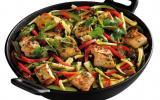 Wok de poulet et légumes du soleil