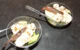 Verrine aux crevettes grises