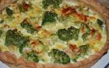 Tarte aux brocolis et amandes au curry