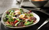 Salade de gésiers de canard confits lafitte et pomme fraîche