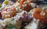 Salade de quinoa aux crevettes marinées